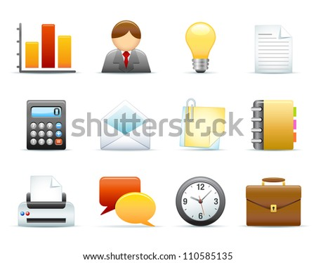 Icon Set - Business / Office - stock photo