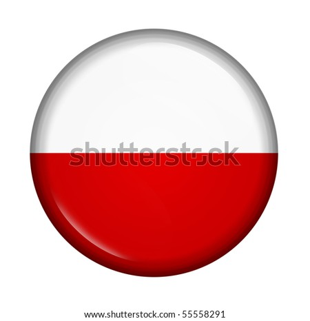 icon with flag of Poland isolated on white background