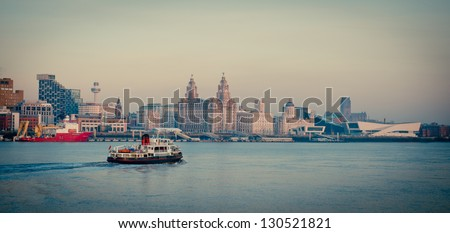 Iconic image of Liverpool - stock photo