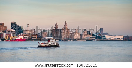 Iconic Liverpool Skyline - stock photo