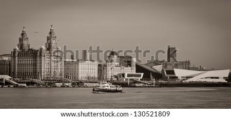 Iconic Liverpool view - stock photo