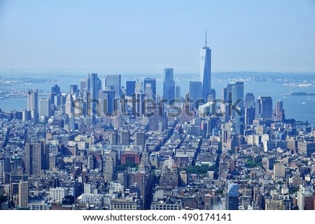 Iconic Manhattan skyline