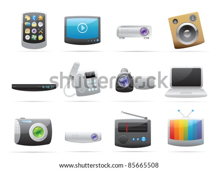 Icons for devices. - stock photo