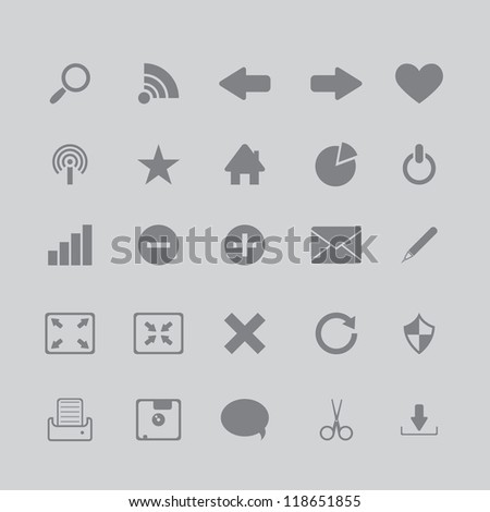 icons for the browser program - stock photo
