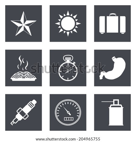 Icons for Web Design and Mobile Applications set 29. - stock photo
