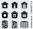 icons houses.  set2.(vector version also available in my gallery) - stock vector