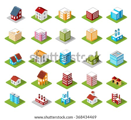 icons isometric - stock photo