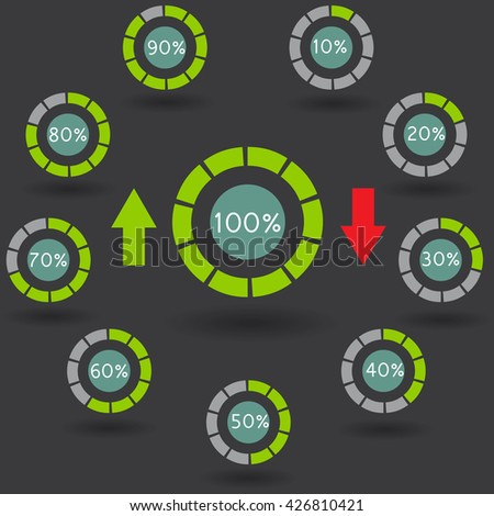 Infographic design on the grey background eps 10 vector file - Infographic Design Black Gears On Grey Stock Vector