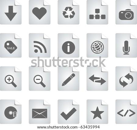 Icons Web - stock photo