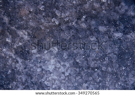 icy conditions - stock photo