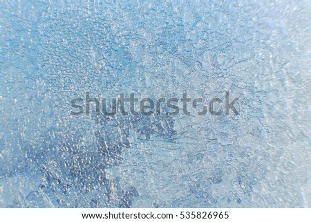 Icy pattern background texture. Close-up of the drawing.