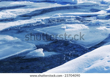 icy water - stock photo