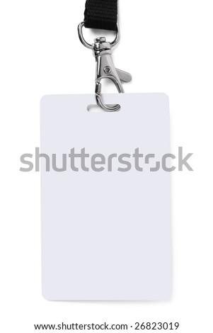 ID badge - stock photo