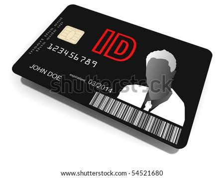 ID card - stock photo