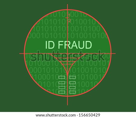 id fraud made in 3d software - stock photo