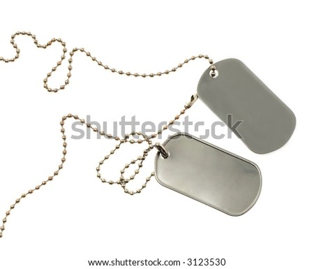Id tag isolated on a white background. See other photos of Id tags in my Portfolio - stock photo