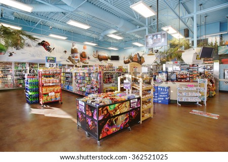 Convenience Store In Estonia. Idaho Falls, Idaho, USA Dec. 4, 2008 The  Interior Of A Modern
