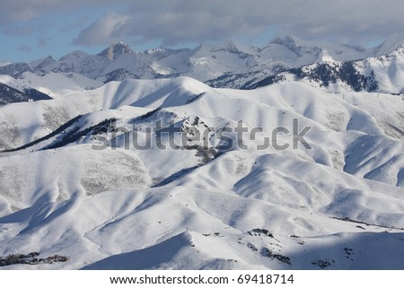 Idaho Mountains - stock photo