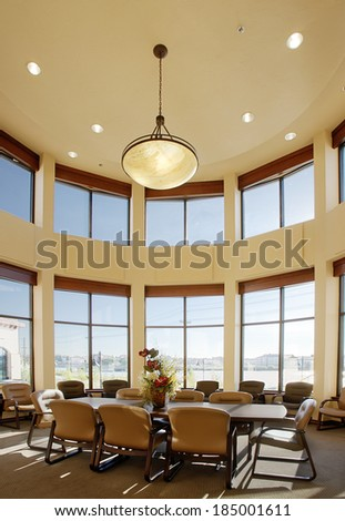 idaho, USA, Aug. 28,2008 An interior view of a modern corporate conference room - stock photo