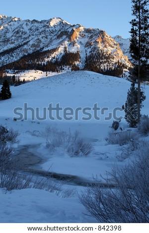 Idaho Winter Sunrise - stock photo