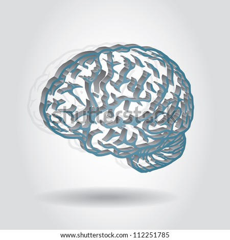 Idea concept, abstract brain illustration