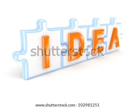 Idea concept.Isolated on white background.3d rendered. - stock photo