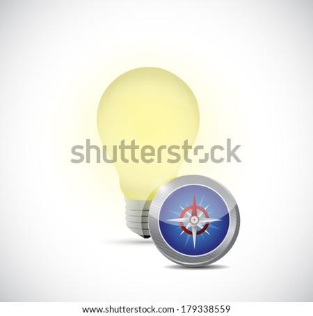 idea concept light bulb illustration design over a white background - stock photo