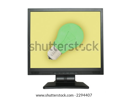 Idea concept on the LCD screen - stock photo