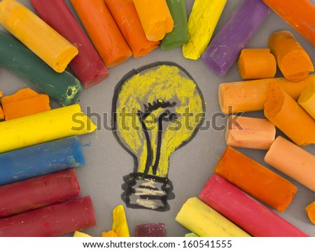 Idea concept, solving problems in colors - stock photo