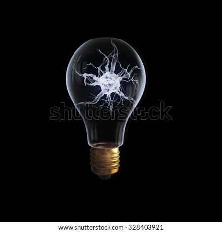 idea concept nerve inside light bulb stock photo royalty free