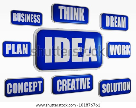 Idea, creative, concept, work, dream, solution, think, business, plan - stock photo