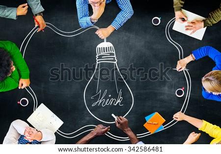 Idea Creativity Inspiration Thought Planning Concept - stock photo