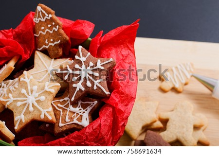 Idea diy do yourself new year stock photo safe to use 758691634 idea diy do it yourself new year and christmas gift concept butter sugar cookies with royal solutioingenieria Images