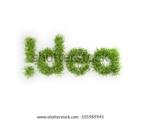 Idea grass patch - creativity concept - stock photo