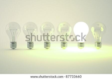 idea light bulb - stock photo