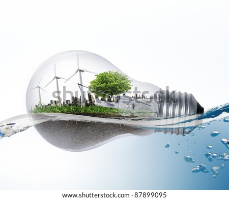 Idea ,light bulb - stock photo