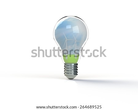 Idea light bulb 3d render - stock photo