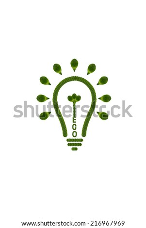 Idea light bulb from leaf.( ECO  concept) - stock photo