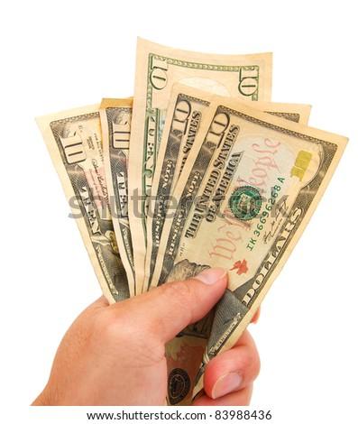 idea of dollars on spending - stock photo