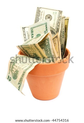 idea of  on money vase