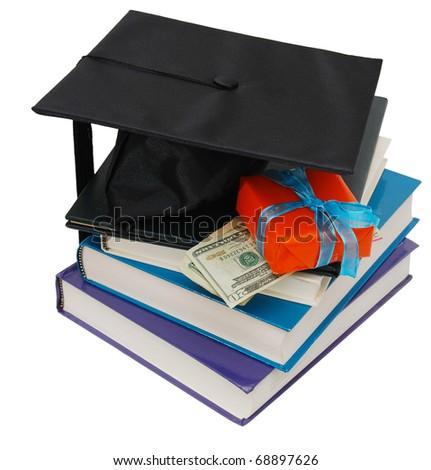 Idea of successful graduation festival - stock photo