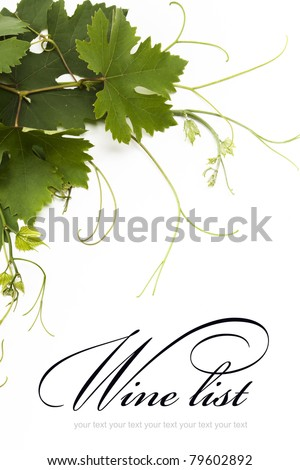 idea of the concept design for a wine list - stock photo