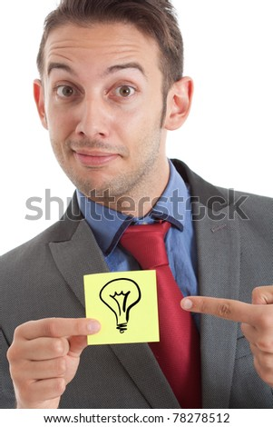 Idea post-it - stock photo