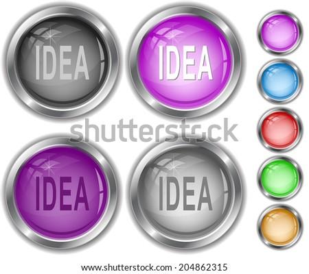 Idea. Raster internet buttons.  - stock photo