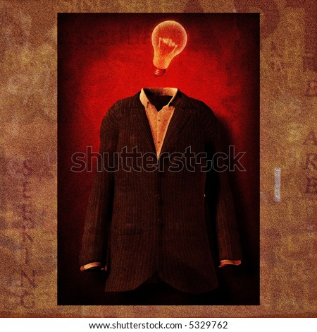 Idea suit text painting - stock photo