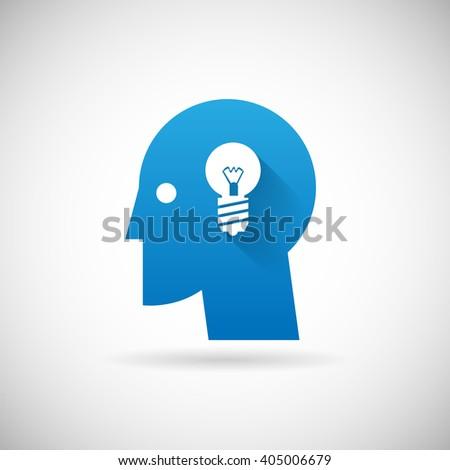 Idea Symbol Business Creativity Icon design Template Illustration - stock photo