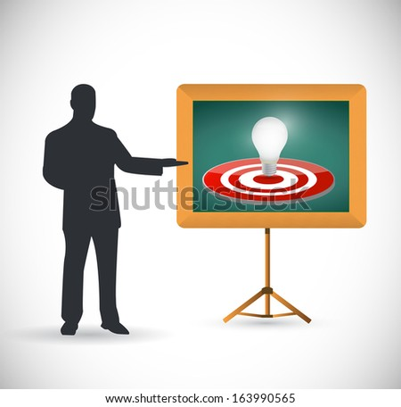 idea target presentation illustration over a white background - stock photo