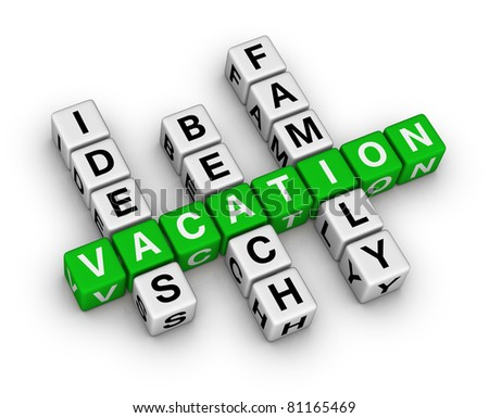 ideas beach family vacation crossword