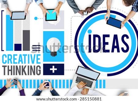 Ideas Creative Thinking Aspirations Mission Concept - stock photo