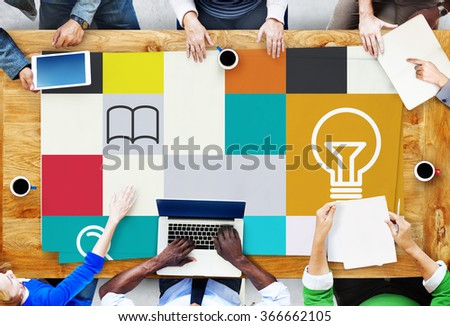 Ideas Creativity Inspiration Connection Communication Concept - stock photo
